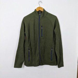 3/15 Tailor Vintage Waffle Fleece Jacket Green NWT